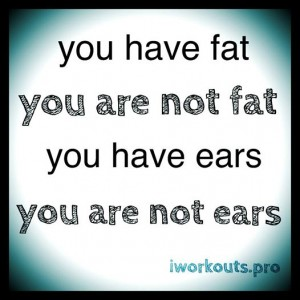 YOU HAVE FAT YOU ARE NOT FAT